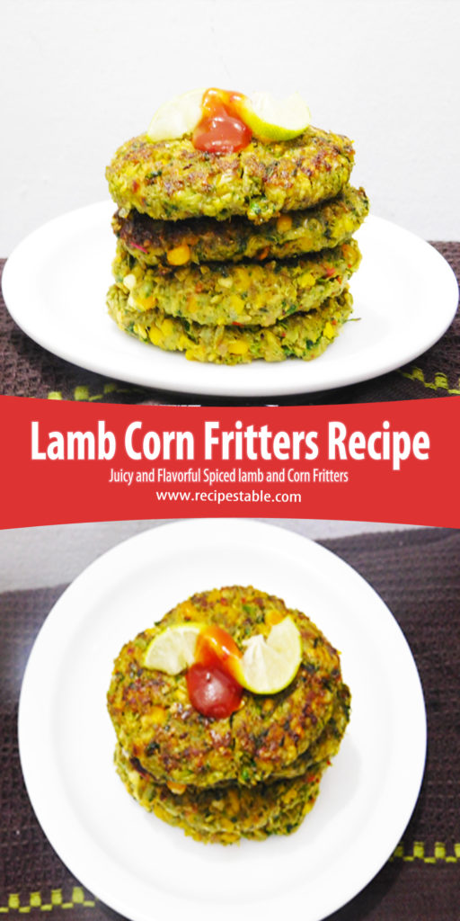 Lamb Corn Fritters Recie